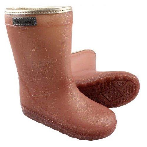 Enfant Thermo boot metallic rose