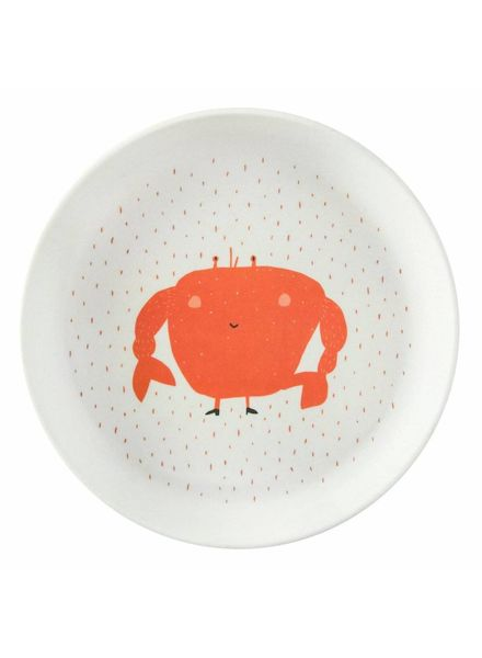 Trixie Plate mrs. crab