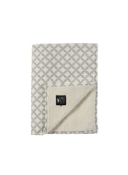 Mies & co Baby soft teddy blanket Geo Circles offwhite (70x100cm) // wieg