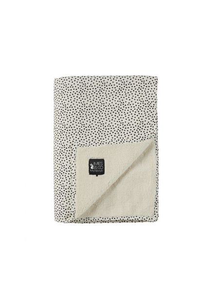 Mies & co Soft teddy blanket big Cozy Dots offwhite (110x140cm) // ledikant