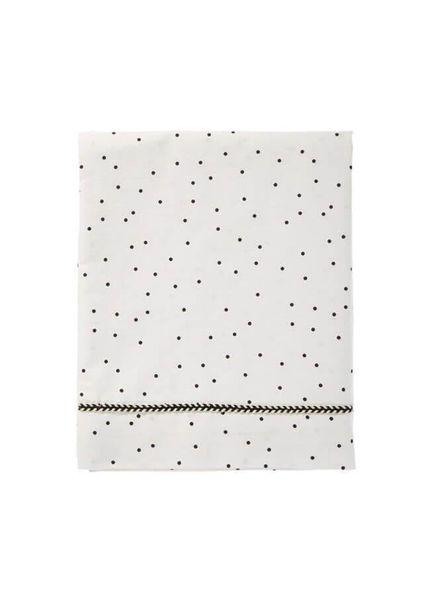 Mies & co Baby crib sheet Adorable Dot offwhite (80x100cm) // wieg