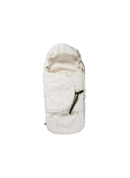 Mies & co Footmuff Adorable Dot offwhite