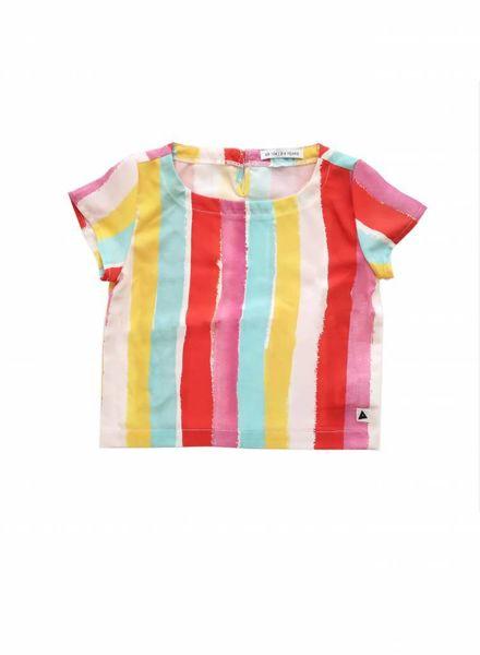 ammehoela Woven top rainbow multi color