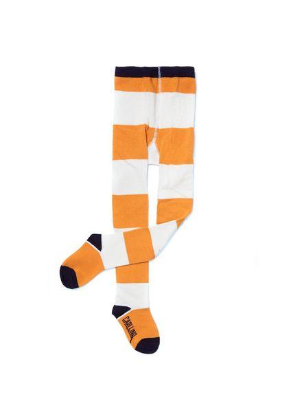 CarlijnQ Big stripes yellow/off white tight