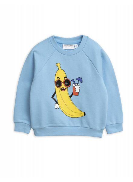 Mini rodini Banana sp sweatshirt lichtblauw