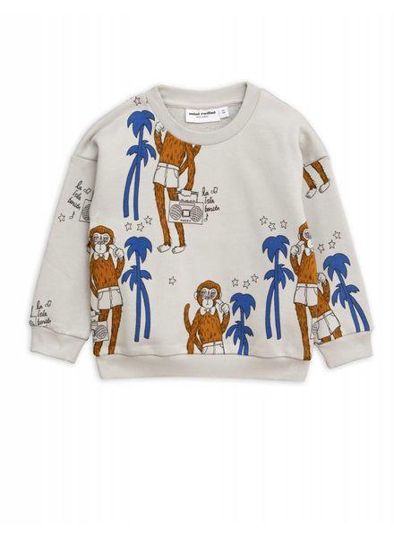 Mini rodini Cool monkey aop sweatshirt  grey