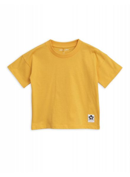 Mini rodini Solid cotton ss tee yellow