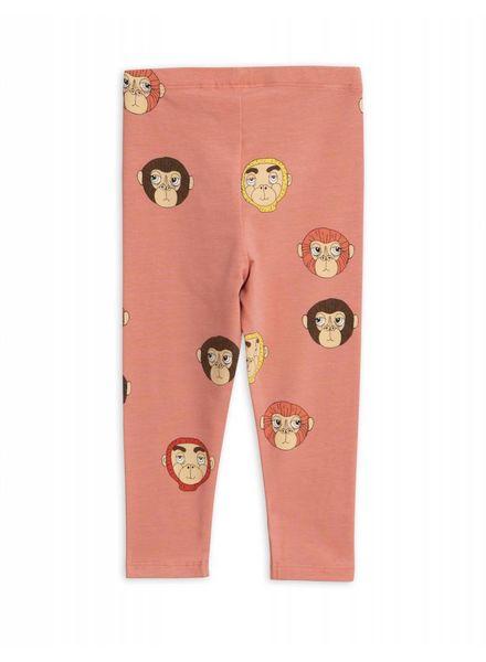 Mini rodini Monkeys aop leggings pink
