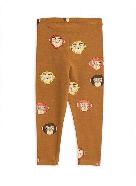 Mini rodini Monkeys aop leggings brown