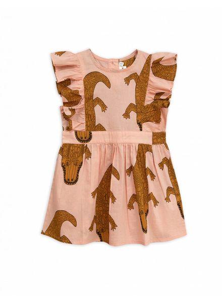 Mini rodini Crocco ruffled dress pink