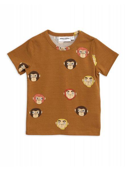 Mini rodini Monkeys aop ss tee brown