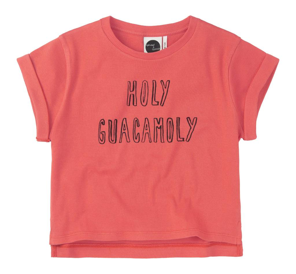 Sproet&Sprout Boxy T-shirt Holy Guacamoly