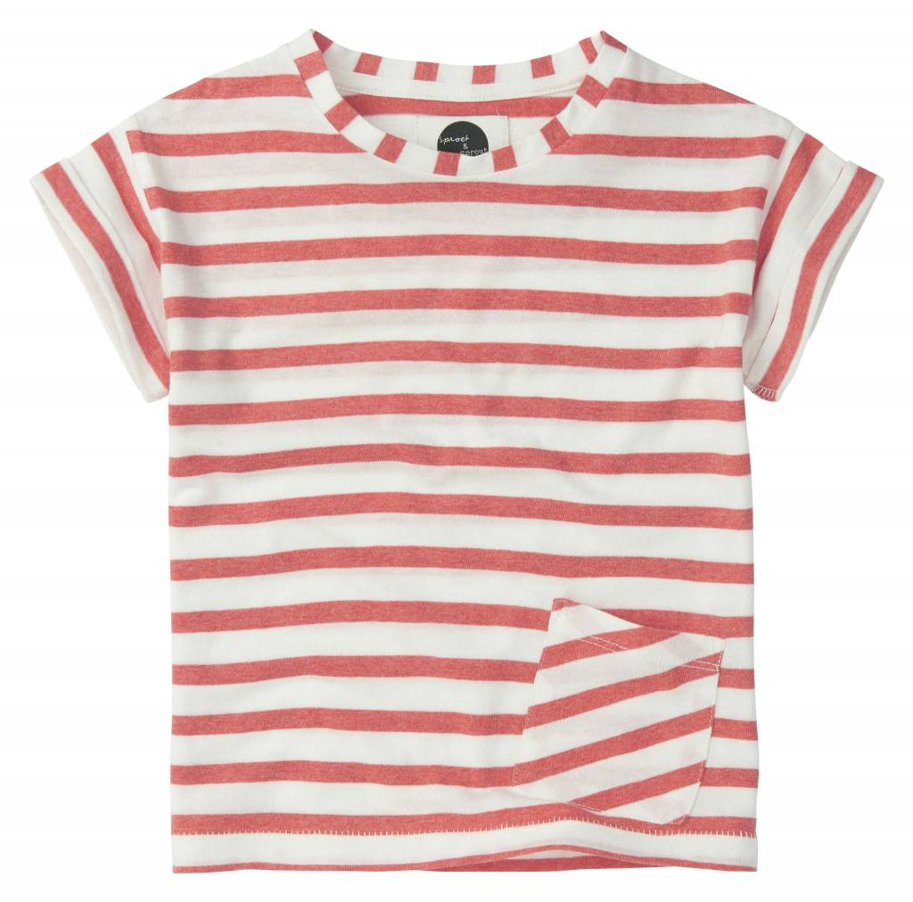 Sproet&Sprout T-shirt 'Stripe Red'