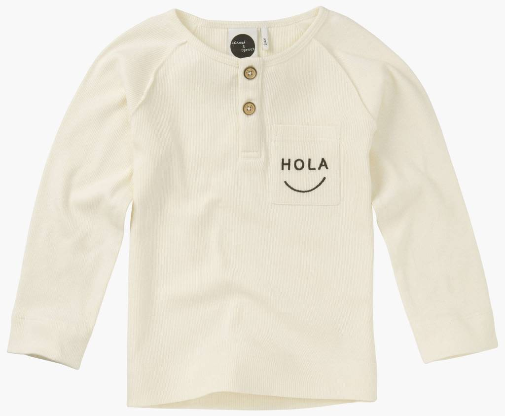 Sproet&Sprout T-shirt 'Long Sleeve 'Hola'