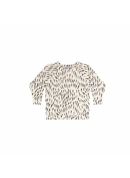 mingo Long sleeve Fur print ecru / black