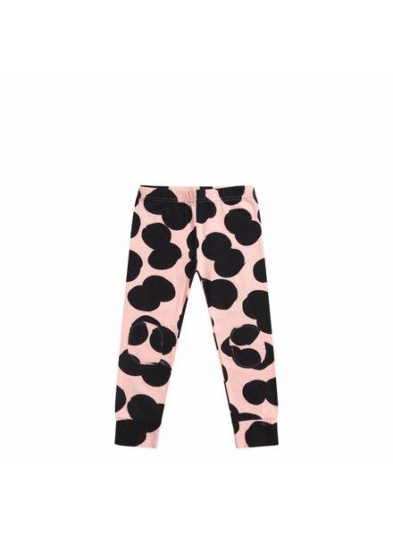 mingo Double dot print Peach pink / black legging
