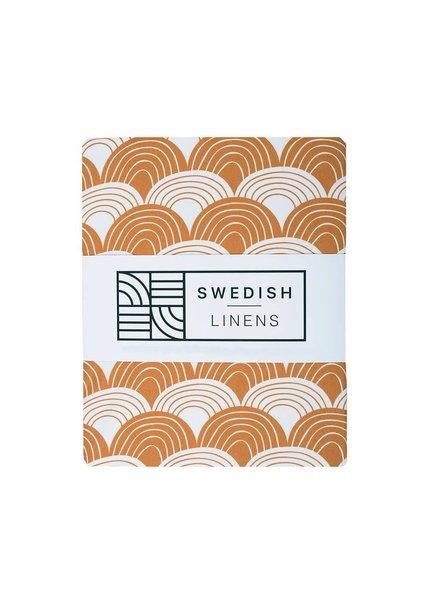 Swedish linens Baby flat sheet 70 X 100 cinnamon