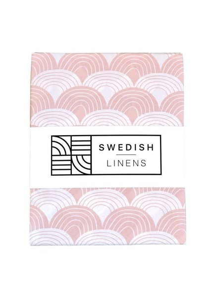 Swedish linens Baby flat sheet 70 X 100 nudy pink