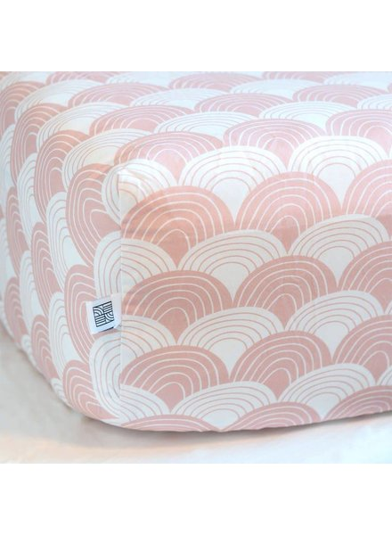 Swedish linens Nudy pink Fitted sheet 60 x 120
