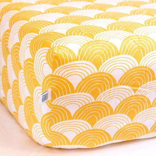 Swedish linens Mustard yellow fitted sheet 90 x 120