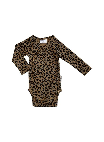 Maed for mini Wrap body brown leopard