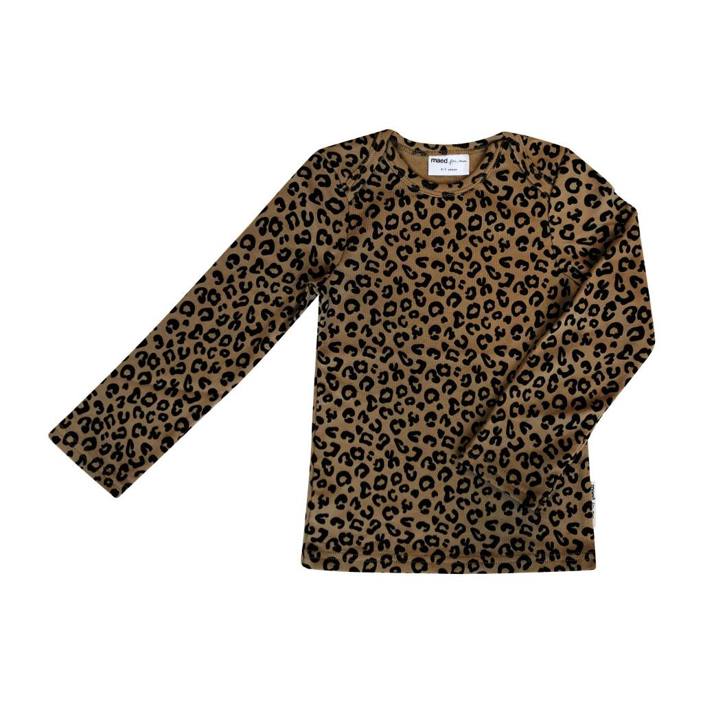 Maed for mini Brown Leopard LS T-Shirt