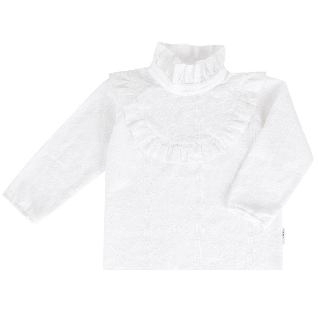 Maed for mini Frosty Fox Ruffle Blouse