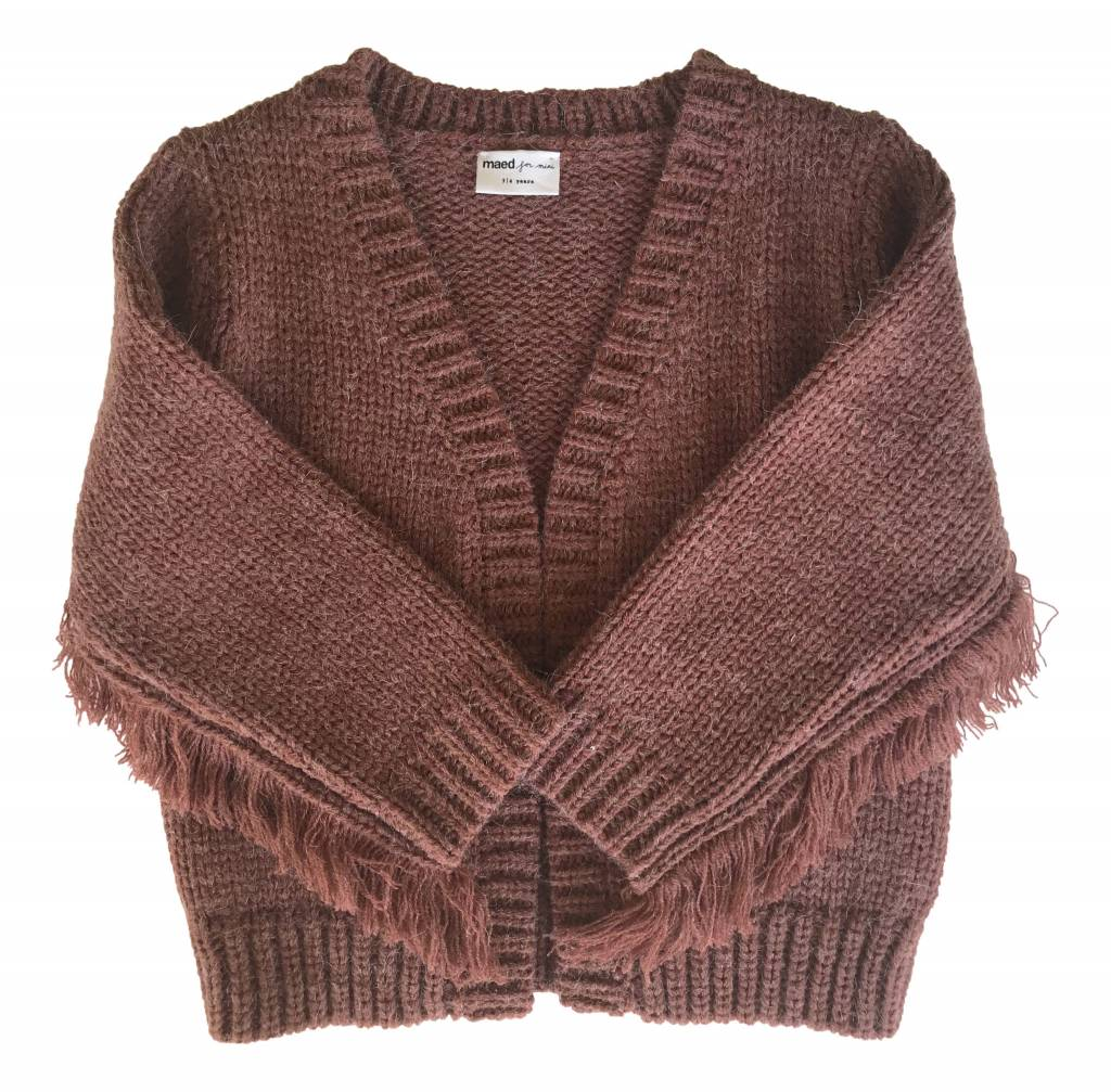 Maed for mini Eery Octopus Fringes Knit Cardigan