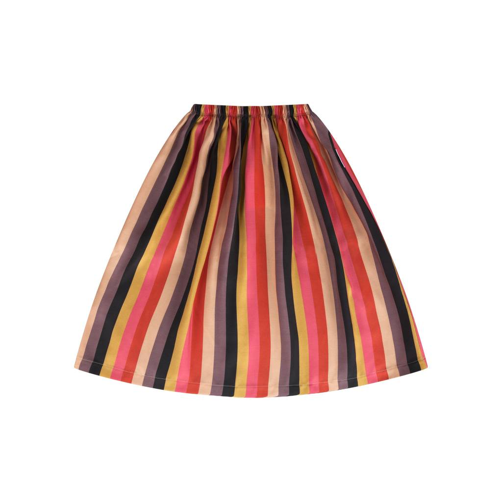 Maed for mini Rainbow Racoon Skirt Long