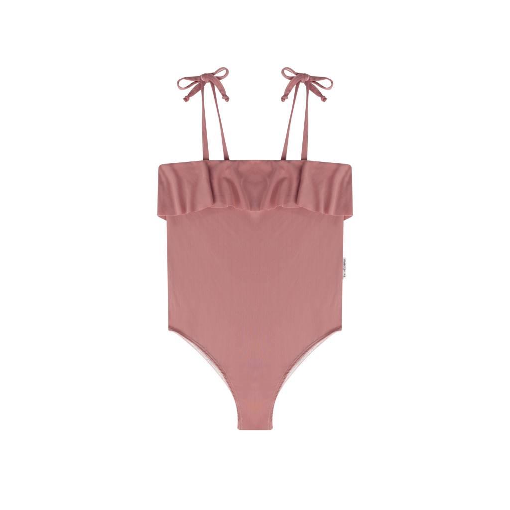 Maed for mini Funky Flamingo Swim Suit