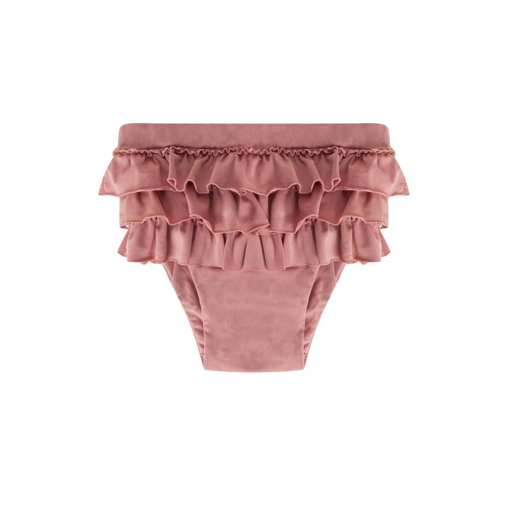 Maed for mini Funky Flamingo Ruffle Swim Shorts