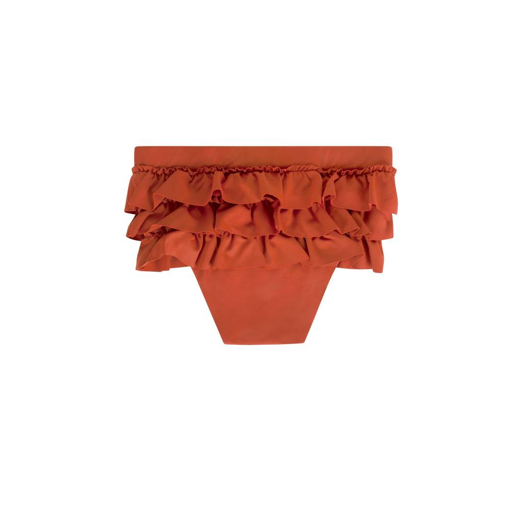 Maed for mini Spicy Parrot Ruffle Swim Shorts