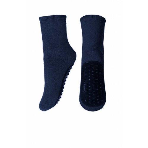 Antislip sok donkerblauw