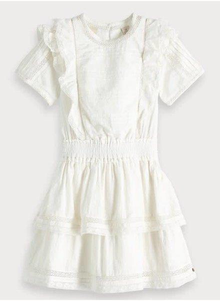 Scotch & Soda Cotton ruffle dress