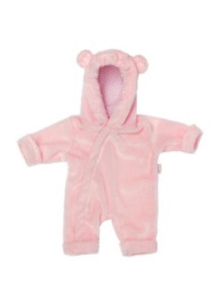 Poppenkleding onecie roze fleece