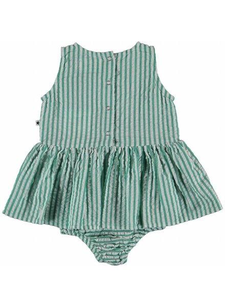 Molo Onecie green stripe