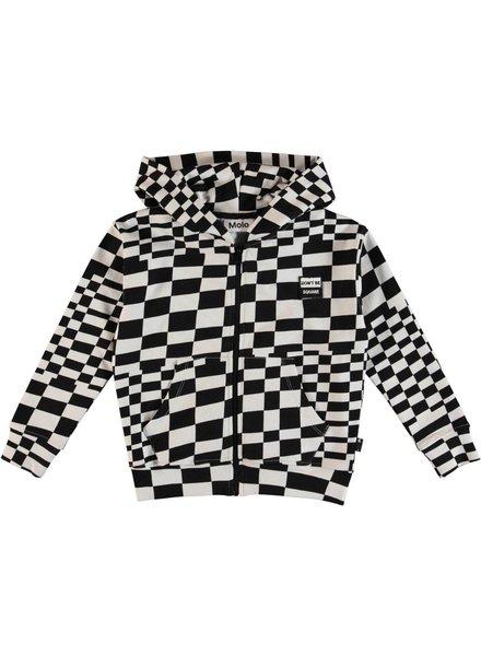 Molo Macci check stripe vest