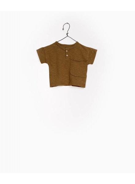 Play Up Flame jersey shirt met knoopjes bruin