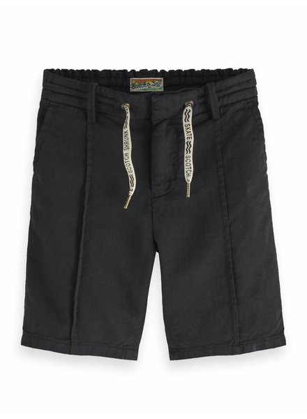 Scotch & Soda Cotton linen short black