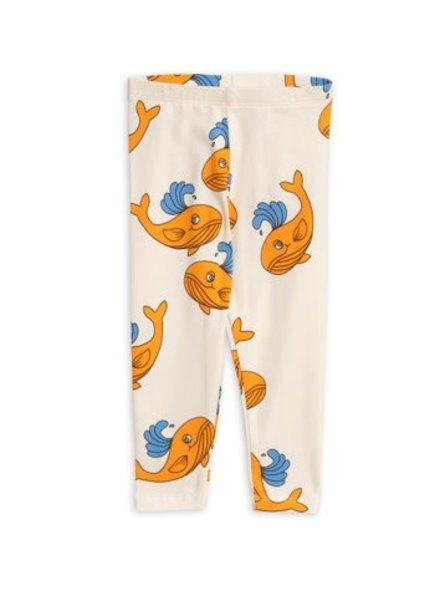 Mini rodini Whale aop leggings orange