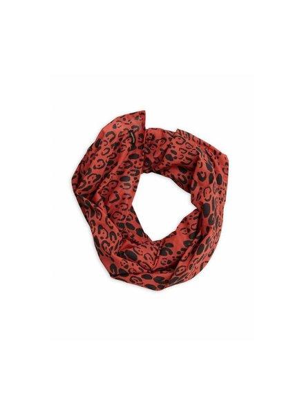 Mini rodini Leopard scarf red