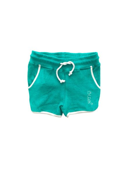 ammehoela Frotte short ocean pool green