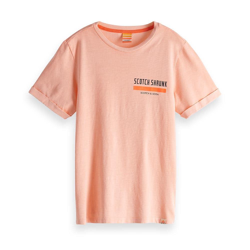 Scotch & Soda Tshirt neon oranje 150437