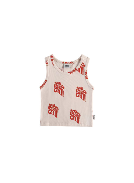 one day parade TANK TOP // RED ICECREAM AOP