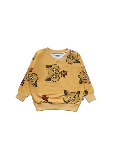 one day parade SWEATER // YELLOW CAT AOP