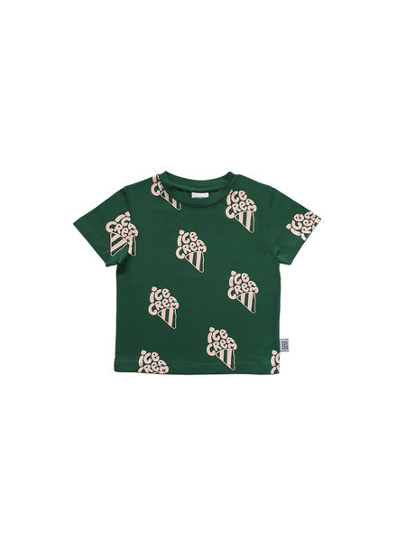 one day parade T SHIRT // GREEN ICECREAM AOP