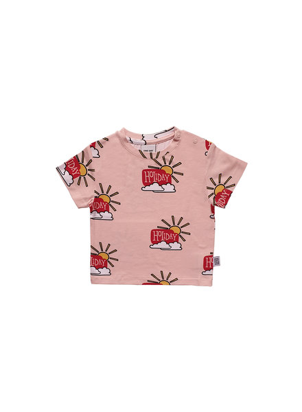 one day parade T SHIRT // PINK HOLIDAY AOP