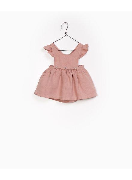 Play Up Linnen dungaree skirt 11459