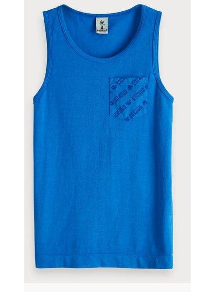 Scotch & Soda Singlet blauw 149393