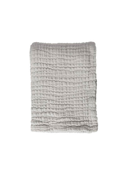 Mies & co Soft mousseline baby rib blanket gentle grey  70x100